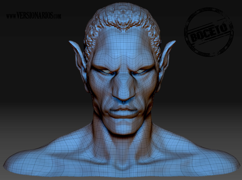 Post thumbnail of VERSIONARIOS – Na'Vi de Avatar (Zbrush)