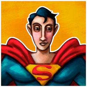 "Post thumbnail of VERSIONARIOS – Superman ""Retro"" (boceto)"